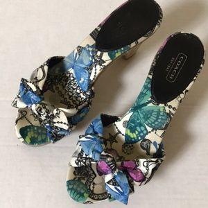 Coach Karen Butterfly Cork Sandals  Size 8.5 EUC